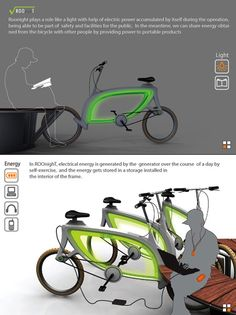 RoonighT design is a bicycle that harnesses electricity from your kinetic energy!