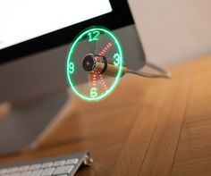 The coolest way to check out the time During those heated moments of playing games on your computer, you may find this interesting device handy. http://thegadgetflow.com/portfolio/led-usb-fan-clock-20/