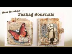 Tea Bag Art, Tea Art, Altered Books, Altered Art, Butterfly Template, Crown Template, Heart Template, Flower Template, Owl Templates
