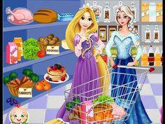 Elsa Y Rapunzel Alimentos Compras - Elsa And Rapunzel Food Shopping