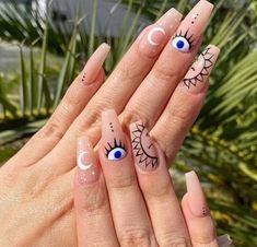 Dope Nail Designs, Star Nail Designs, Almond Nails Designs, Cute Acrylic Nail Designs, Nail Design Stiletto, Nail Design Glitter, Almond Acrylic Nails, Best Acrylic Nails, Best Nails