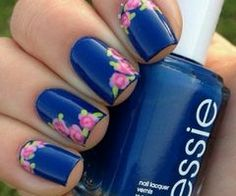 nails navy and white - Google Search