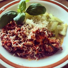 Zucchini and bolognese! #lchf