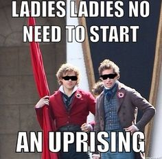 Enjolras and Marinus Les miserables