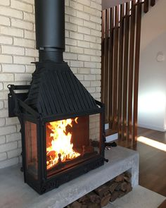 """Cheminee on Instagram: """"Thanks for the pics Vanessa and @fireplacesam for the install.. keep warm and enjoy!  Swipe ⬅️⬅️⬅️⬅️⬅️⬅️"""" Keep Warm, Thankful, Home Appliances, Wood, Instagram, House Appliances, Kitchen Appliances, Woodwind Instrument, Appliances"""