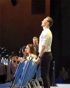 Tom Hiddleston and his cute little butt at the Kong Skull Island panel