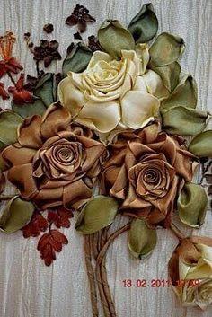 Wonderful Ribbon Embroidery Flowers by Hand Ideas. Enchanting Ribbon Embroidery Flowers by Hand Ideas. Ribbon Embroidery Tutorial, Silk Ribbon Embroidery, Beaded Embroidery, Embroidery Patterns, Embroidery Bracelets, Embroidery Supplies, Embroidery Stitches, Ribbon Art, Ribbon Crafts