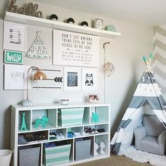 Breathtaking 22 Kid-Friendly Playroom Storage Ideas https://decorisme.co/2017/12/29/22-kid-friendly-playroom-storage-ideas/ If you own a lot of room around the bed, then you can also make a small sitting