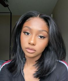 Arabella-Experienced More Than 10 Years in Human Hair Field. Shop Here For Long Straight Inch Lace Frontal Wig To Bloom Your Beauty! Wig Styles, Curly Hair Styles, Natural Hair Styles, Mom Hairstyles, Baddie Hairstyles, Black Hairstyles With Weave, Straight Hairstyles, Long Bob Weave, Shoulder Hair