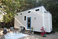 A two bedroom (two lofts) 300 square feet tiny house on wheels in Redwood City, California. Built by Dream Big Dwell Small.