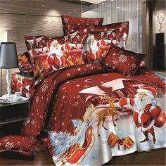 3D Christmas full cotton luxury bedding sets bed comforter set with Twill style