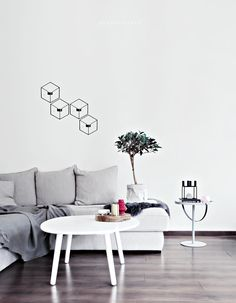 POV wall candleholders by Note for Menu and By Lassens Kubus 4 candleholder (photo: Only Deco Love) | http://www.nordicblends.nl/menu-wandkandelaar-pov-zwart.html | http://www.nordicblends.nl/by-lassen-kandelaar-kubus-4-zwart.html