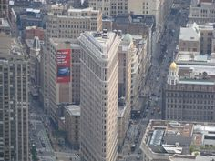 Flat Iron Building in NYC, taken from the Empire State Building
