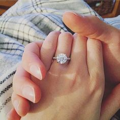 Round brilliant cut solitaire engagement ring on a thin micropave half eternity band with thin 4 prong setting Engagement Ring Shapes, Beautiful Engagement Rings, Solitaire Engagement, Wedding Engagement, Wedding Bands, Wedding Ring, Corsage Wedding, Decor Wedding, Solitaire Rings