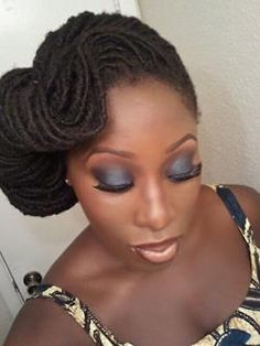 swoop style and beautiful makeup