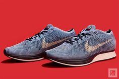 buy online d46b0 2a079 Nike Flyknit Racer Indigo Detailed Look   Complex Reebok, Nike Free, Air  Jordans,