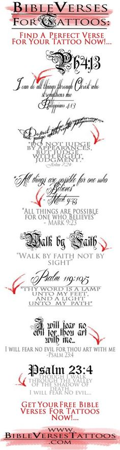 FIND a PERFECT VERSE for YOUR TATTOO NOW! BibleVersesTattoos.com