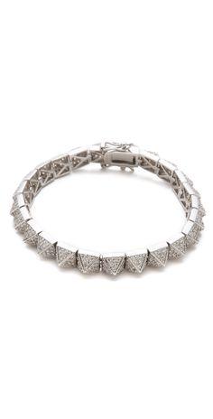 Eddie Borgo Small Pave Pyramid Bracelet | SHOPBOP
