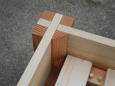 poplar frame,  douglas fir posts, & slats from Ikea.