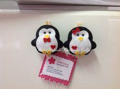 Imã de Geladeira Porta Recados Pinguim