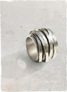 hammered silver strands. perfect! $118