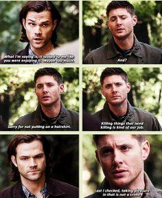 Oh dear; Dean\'s just not getting it. [GIFSET] 9x19 Alex Annie Alexis Ann