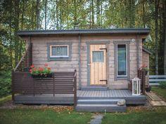 Pihasauna Sauna Design, Finnish Sauna, Cozy Cottage, Tiny House, Small Spaces, Shed, Home And Garden, Saunas, Exterior