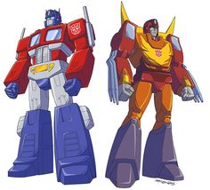 TF Optimus Prime and Rodimus Prime! by MarceloMatere.deviantart.com on @deviantART