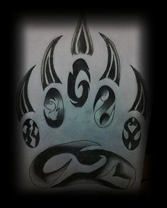 Grizzly Bear Paw Tattoos | Native Art Grizzly Bear Tattoo Pictures