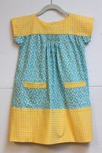 Ice Cream dress with a touch of smocking.