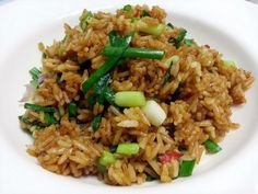 """Spicy Vegan Fried Rice! """"MY VERSION ~  ~ SPICY AND VEGAN  ~ SIMPLE FRIED RICE ~  ~ LOVING IT""""  @allthecooks #recipe #rice #vegan #spicy #easy #healthy"""