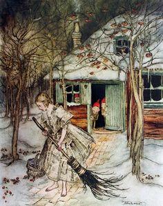 Pinzellades al món: Blancaneus il·lustracions / Blancanieves ilustraciones / Snow White illustrations Arthur Rackham