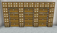 Minecraft Storage Minecraft Interior Design, Minecraft House Designs, Minecraft Architecture, Minecraft Creations, Minecraft Buildings, Minecraft Storage, Minecraft Plans, Minecraft Blueprints, Minecraft Stuff