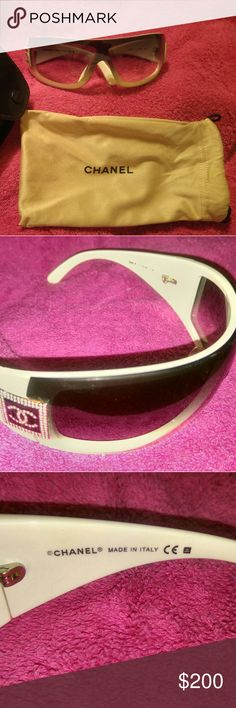 CHANEL Sunglasses CHANEL Sunglasses Model   5Q85-B 716/BG 110  MADE IN ITALY  Excellent used condition.Soft cleaner / protection sack and CHANEL HARD CASE. CHANEL Accessories Glasses