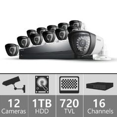 Amazon.com : Samsung SDS-P5122 16 Channel All-in-one DVR Security System : Camera & Photo