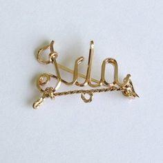 Vintage Name Pin - Ida