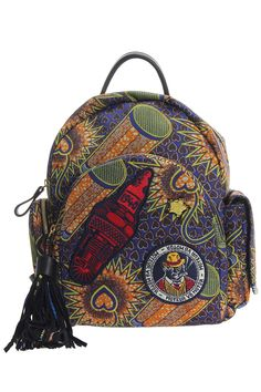 SMALL BACKPACK WITH POCKETS ATELIER VLISCO - Tiziana Fausti African Prints, African Fabric, African Art, Kitenge, Style Afro, Ankara Bags, Style Ethnique, Ankara Designs, African Inspired Fashion
