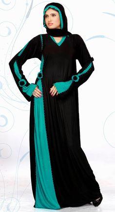 Vivacious Black And Green Color Designer Abaya