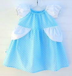 If you keep on believing, the dream that you wish will come true. Sweet and comfy Cinderella dress for your little princess! 12 to 18 Months (Measurement chart in pictures. Measurements are finished garment measurements. Chest is measured side seam to side seam, length is measured