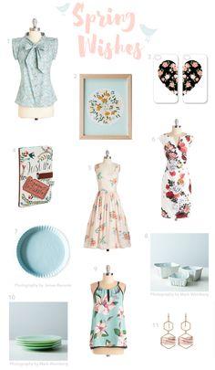 A floral affair| Spring Wish List by kraft&mint #fashion #pastels