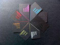 Foil blocked coloured business cards - www.beanprint.com