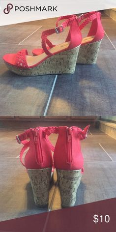 Mossimo Red Wedges Worn 1x. Very cute! Shoes Wedges