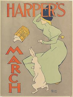 Edward Penfield (America, 1866-1925). Harper's:March, 1895. The Metropolitan Museum of Art, New York. Museum Accession, transferred from the Library, 1957 ( 57.627.9(46))