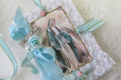 Virgin Mary  Mini Journal Blessed Mother Gift by underthenightmoon, $9.50