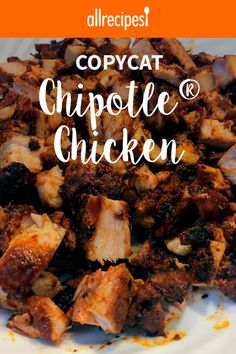 Grilled chicken with a spicy chipotle-ancho chile pepper marinade is a copycat version of the restaurant chain Chipotle®'s chicken. Chipotle Copycat Recipes, Chipotle Chicken Copycat, Copy Cat Chipotle Chicken, Qdoba Chicken Recipe, Chicken For Tacos, Mexican Chicken Marinade, Spicy Grilled Chicken, Chicken Burrito Bowl, Cilantro Lime Chicken