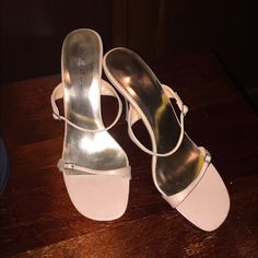 Shoes Elegant open toe shoes /sandals with comfortable heel. Never worn. Michael Antonio Shoes