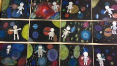 Ideas for Space art project Science Art, Science And Nature, Art For Kids, Crafts For Kids, Space Theme, Art Club, Solar System, Art School, Art Lessons