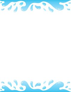 Printable water border. Free GIF, JPG, PDF, and PNG downloads at http://pageborders.org/download/water-border/
