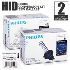 Brand New & Genuine PHILIPS H7 6000K Xenon 35W HID CANBUS Conversion Kit