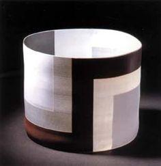 Cylinder with Brown & Black  Bodil Manz (Denmark)